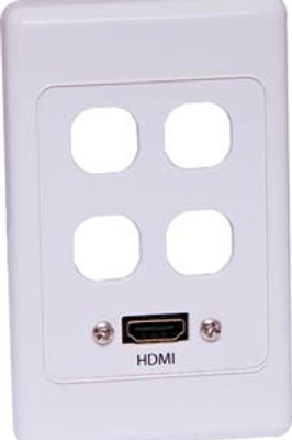 HDMI with 4 x Mech Wallplate - Fly Lead