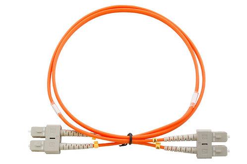 1Mtr SC to SC OM1 DX Multimode Fibre Patch Lead