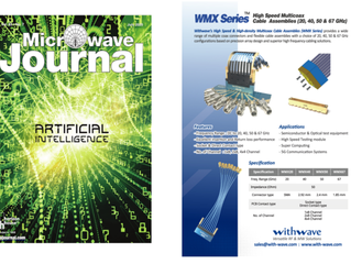 HighSpeed & High Density Multicoax Cable Assembly(WMX Series) on Microwave Journal (July, issue,