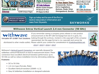 Vertical Launch Connector on RF Cafe