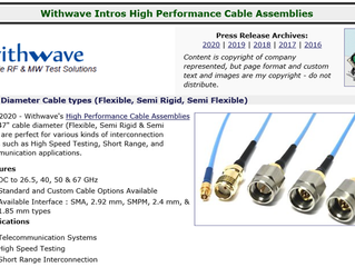 RF Cafe :Withwave High Performance Cable Assemblies (.047 cable types:  Flexible, Semi-Rigid & F