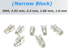 End Launch Connectors (Narrow Block) for 26.5, 40, 50, 67 and 110 GHz