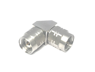 New Precision 1.85 mm to 1.85 mm Right Angle Adapter (DC to 67 GHz)