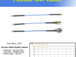 SMPM Cable Assembly (DC to 67 GHz : Flexible .047 Cable)