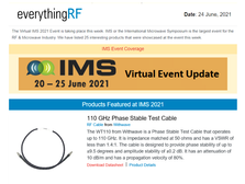 110 GHz Phase Matched Test Cable on Everything RF Newsletter