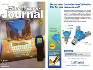3.5 mm & N-type Calibration Kits on Microwave Journal (May. issue)