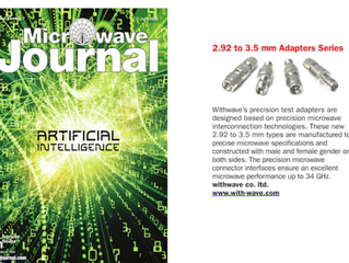 Precision 2.92 mm to 3.5 mm Adapters Series on Microwave Journal-New Product(July, issue, 2020)