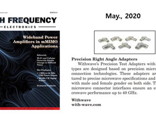 Advertisement of Precision Right Angle Adapters on High Frequency Electronics
