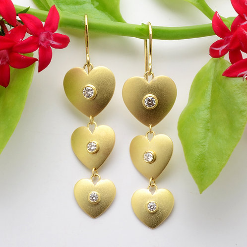 Flowing Heart Earrings