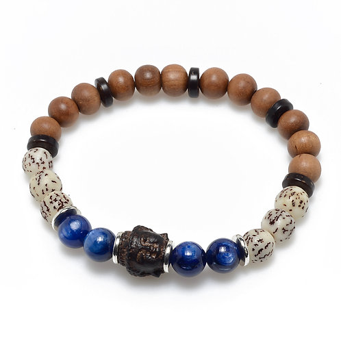 Buddha and Kyanite Bracelet