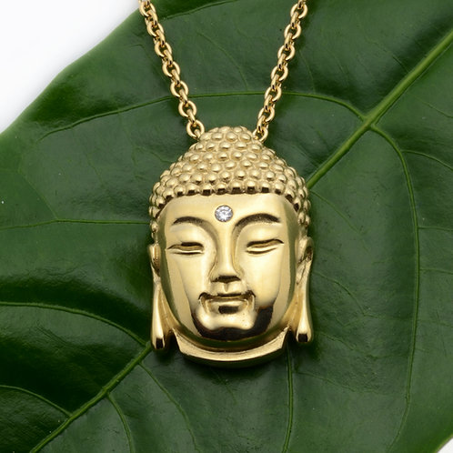 18K Buddha Head Pendant
