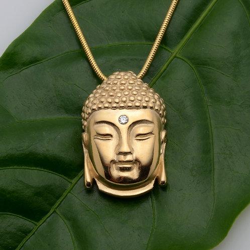 14K Buddha Head Pendant