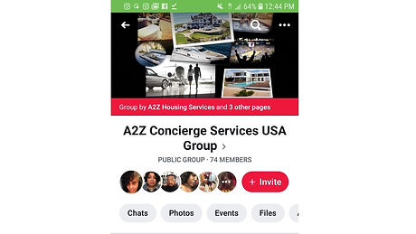 A2Z Facebook group page picture