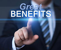 Man pointing at great benefits name