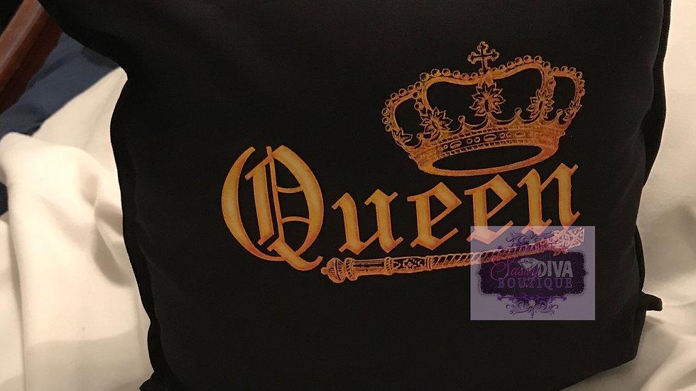 """""""QUEEN"""" PILLOW COVER"""