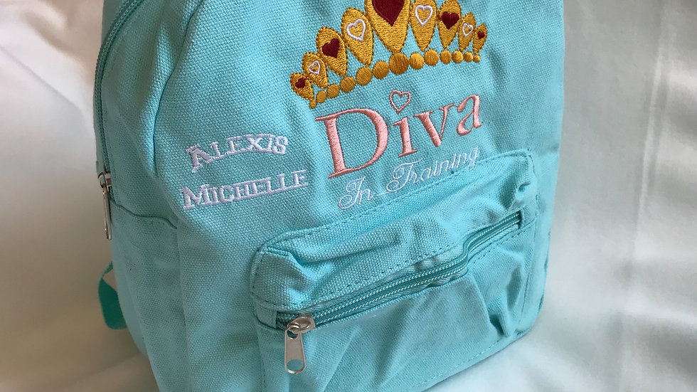 """DIVA in Training"" Mini Backpack"