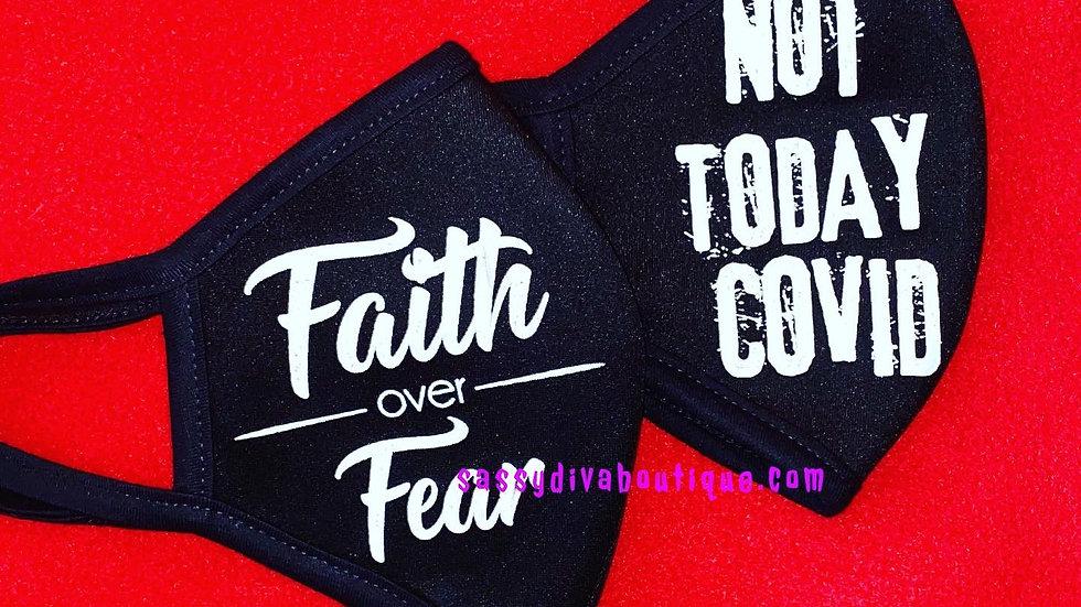 FAITH OVER FEAR FACE COVERING/MASK