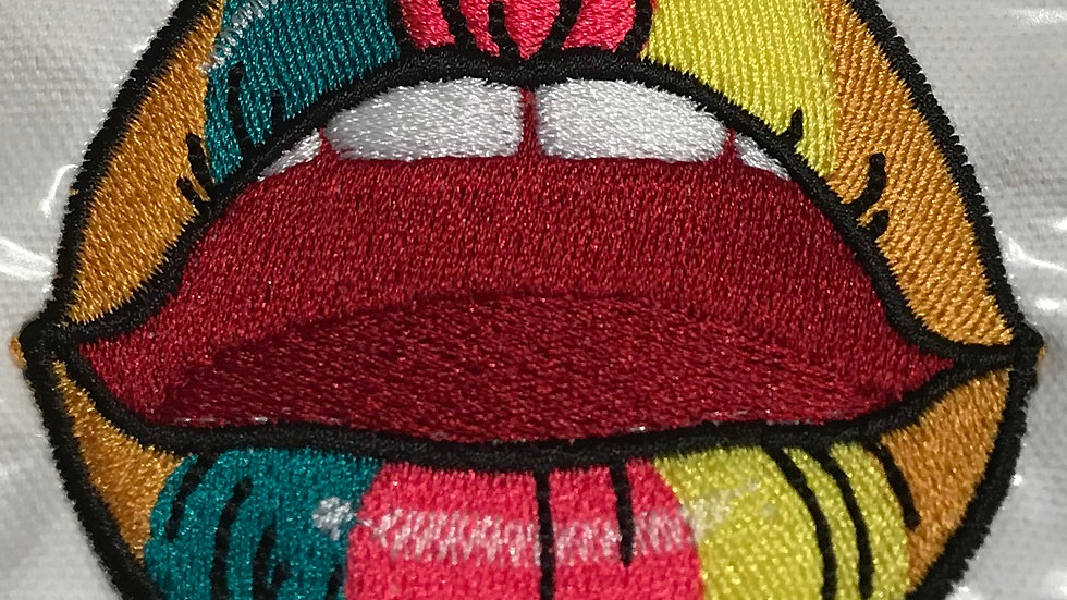"""HOT LIPPZ"" IRON ON PATCH"