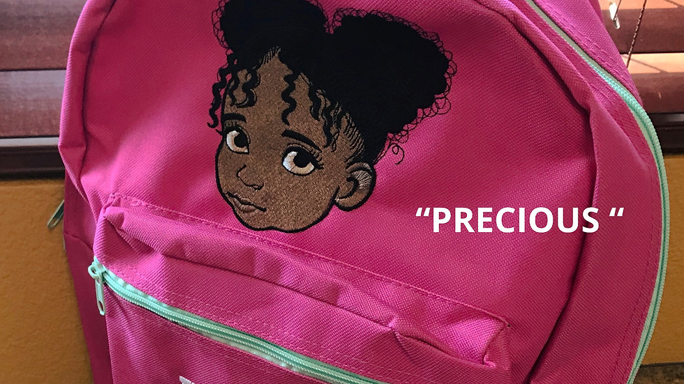 """PRECIOUS"" EMBROIDERED BACKPACK"