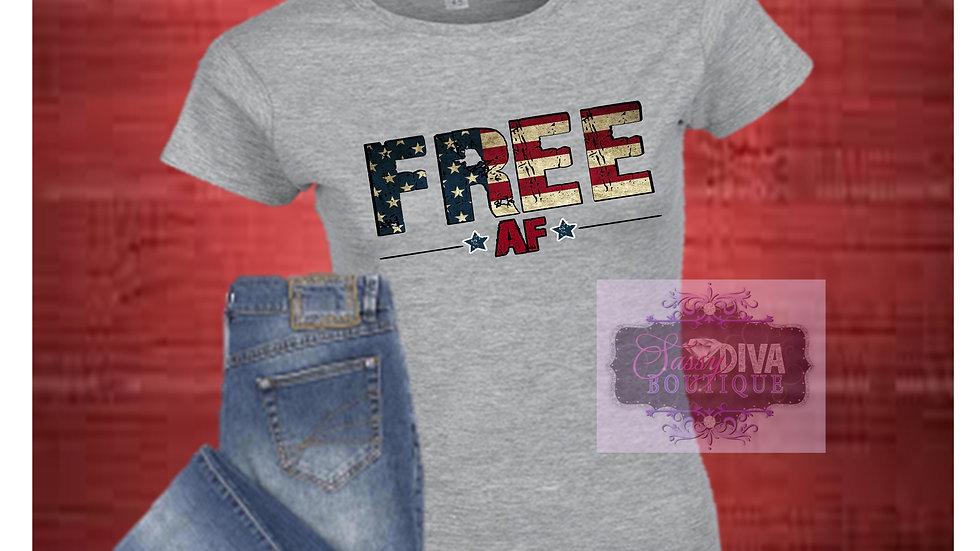 """""""FREE AF"""" SUBLIMATED T~ SHIRT"""