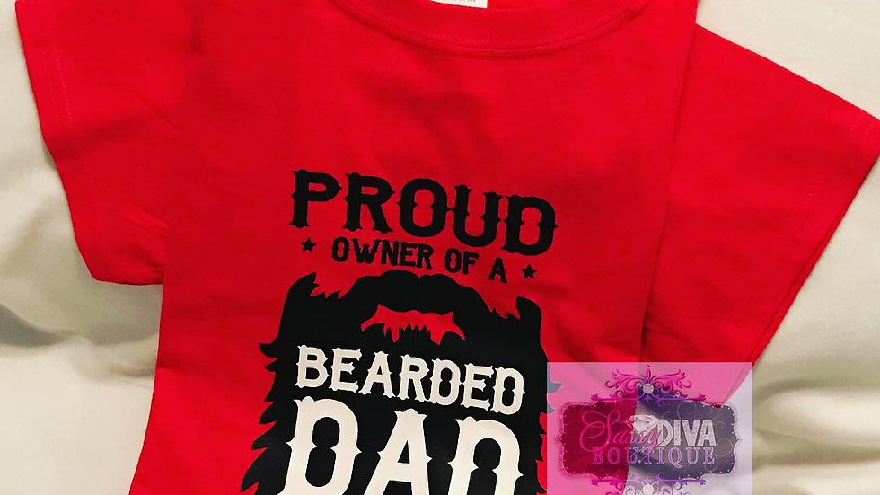 """BEARDED DAD"" T~SHIRT"