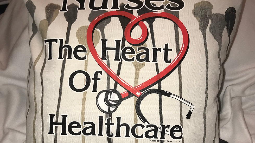 """HEART OF HEALTH CARE"" PILLOW COVER"