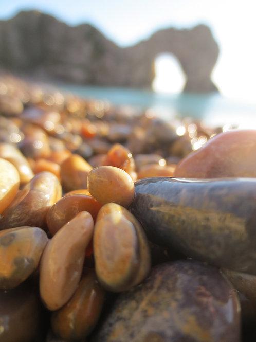 Pebbles at Durdle Door Canvas