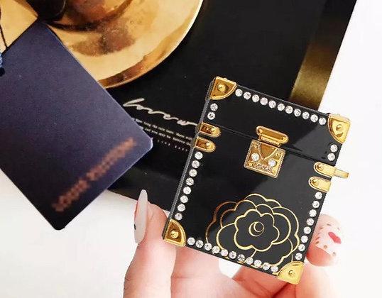Luxury Retro 3D Diamond Flowers Earphone Case Cover for Apple AirPods 2 1 Pro