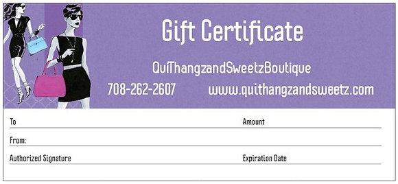 Qui's Gift Card - $20
