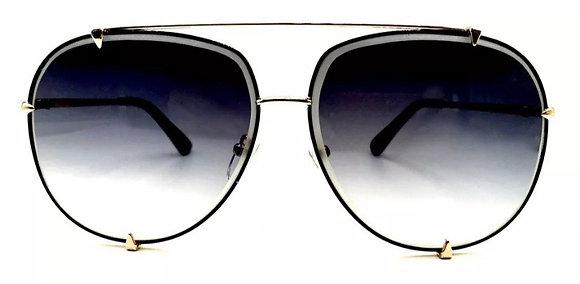 """Big Aviator XXL """"Talon"""" OVERSIZED Metal Gradient Women Sunglasses"""