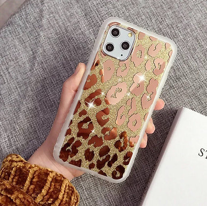 Glitter Bling Leopard Pattern Clear Phone Case For iPhone 11 Pro Max XR 7 8Plus