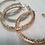 Thumbnail: Elegant Crystal Hoop Earrings C Shaped Rhinestones Iridescent Silver Gold Hoops