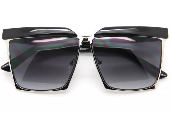 Designer Inspired Oversized Sunglasses Smoked Lens Square Frame Women Fashion