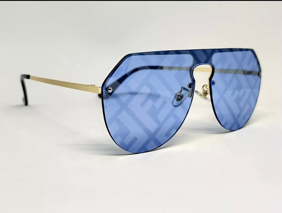 LUXURY NEW Men Fashion Sunglasses Party Glasses BLUE GRADIENT PRINTED GLASSES