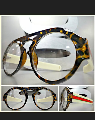 CLASSIC VINTAGE RETRO Style Clear Lens EYE GLASSES Round Tortoise Fashion Frame