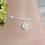 Thumbnail: Silver Heart Charm Ankle Bracelet