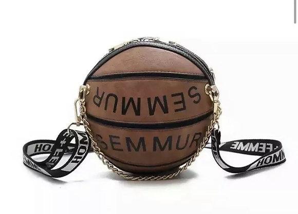 Basketball 2020 Letter Chain Crossbody/messenger- PU Leather Clutch Zipper Bag