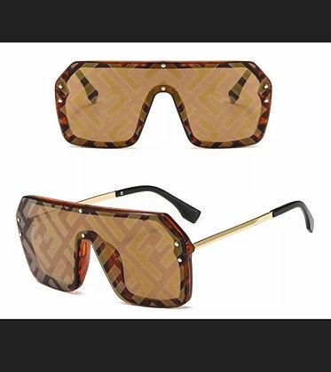 FF Oversized Mirror Sunglasses