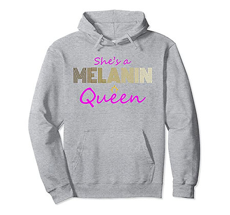 African American History Month She's A Melanin Queen Women Pullover Hoodie