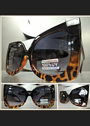 OVERSIZED VINTAGE RETRO Pointy CAT EYE Style SUN GLASSES Black & Tortoise Frame