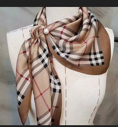 Luxury Designer Inspired Square Satin Silky Neck Scarf Handbag Headband Hairwrap