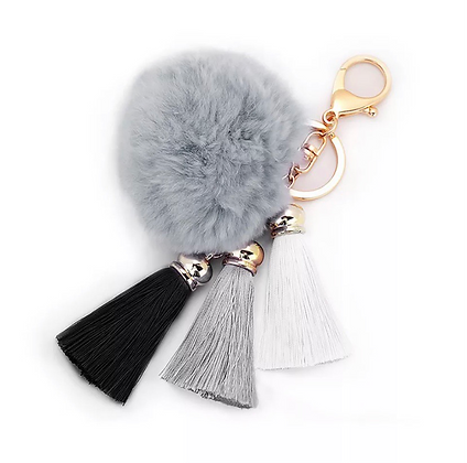 Cute Red Rabbit Fur Key Ring For Womens Clutch Satchels Hand Bags Lot Bulk USA S