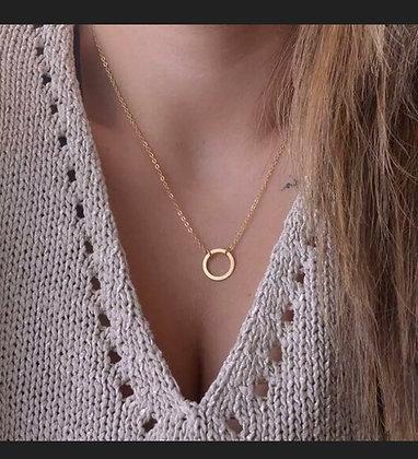 Simple Minimalist Choker Dainty Gold  Chain Pendant