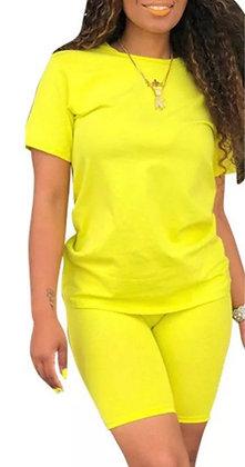 Womens Tie Dye Tracksuit Co Ord Sets Sport Gym Yoga T-Shirt Shorts