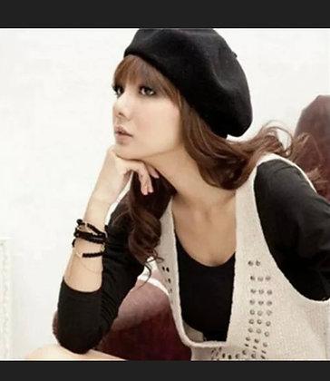 Women 100% Warm Wool Winter Girl Beret French Artist Beanie Hat Ski Cap Gift
