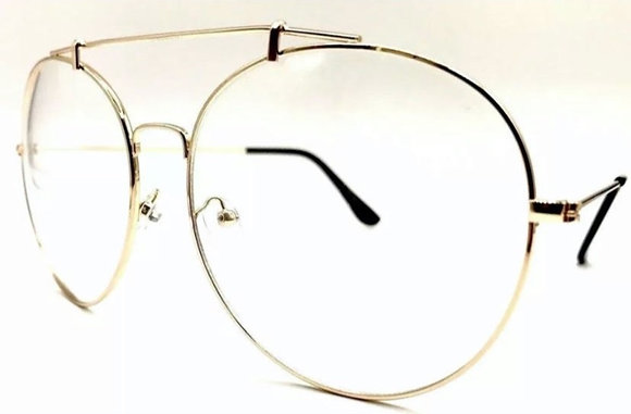 Oversized Big Clear Lens Swan Eyeglasses