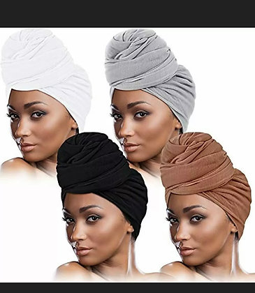 Head Wrap Scarf Stretch Turban