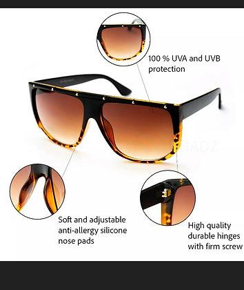 "Sunglasses Women OVERSIZED AVIATOR  ""EMMA""  XXL Flat Top Square Shadz"