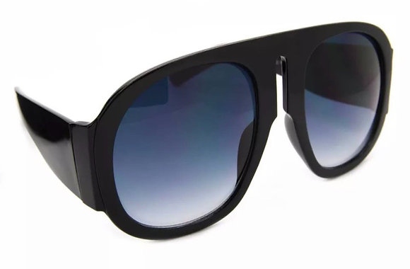 XXL Large Oversized Aviator Women Sunglasses Retro Fashion Thick Plastic Frame