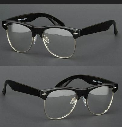New Clear Lens Glasses Men/ Women Nerd Horn Frame Fashion Eyewear Designer Retro